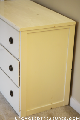 DIY Stenciled Nightstand - Wanting to redo a nightstand or dresser? If so take a look and get inspired! UpcycledTreasures.com