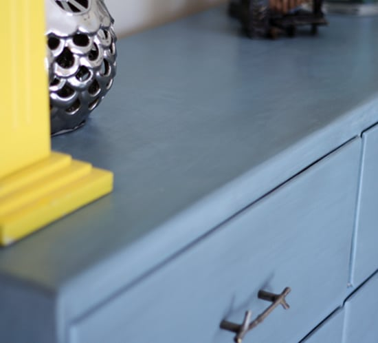 painted and glazed dresser with branch drawer pulls mountainmodernlife.com