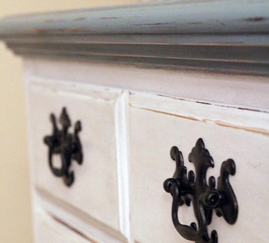 DIY coastal cottage dresser makeover after photo mountainmodernlife.com