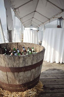 Are you looking for a rustic vibe to ad to your space? Check out some of these great ideas for decorating with Wood Barrels.