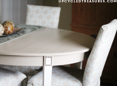 If you haven't seen this makeover, you need too! It highlights how to go about making over a French cottage dining table. UpcycledTreasures.com