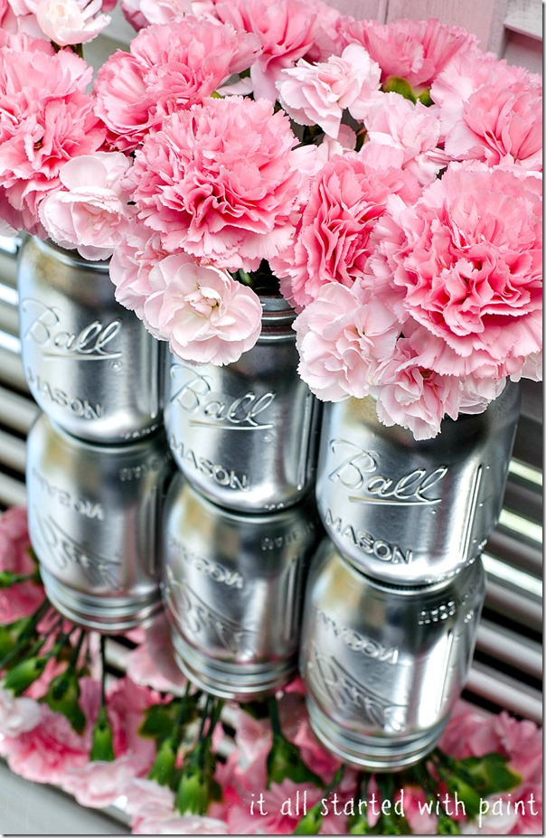Metallic Mason Jars   It All Started with Paint