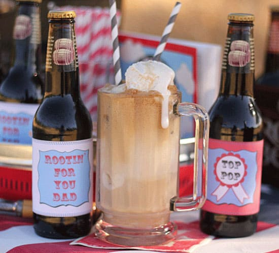 DIY fathers day root beer float