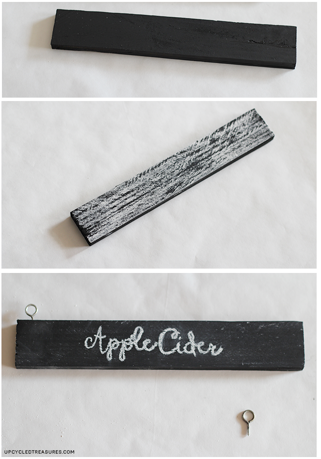Such a clever way to create DIY beverage tags using wood shims and chalkboard paint. These would be perfect for any beverage station!