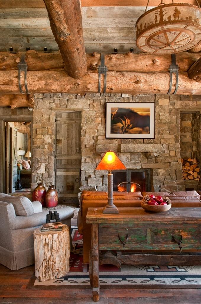 Cozy Log Cabin Design via Dan Joseph Architects