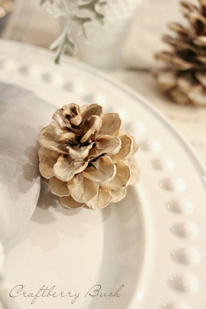 How to bleach pinecones via Craftberry Bush