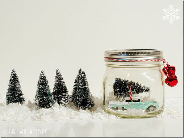 Car in a Jar Snow globe via It All Started with Paint