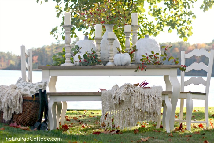 Thanksgiving Tablescape via The Lily Pad Cottage