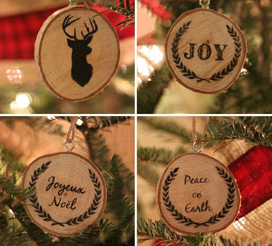 Tree of Life Essential Wooden Ornament Natural Tree Slice Hanging