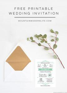FREE Printable Rustic Wedding Invitation   MountainModernLife.com