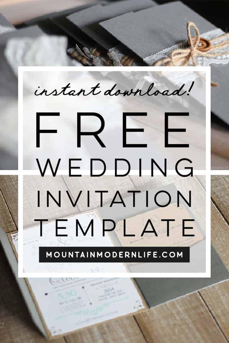 FREE Wedding Invitation Template