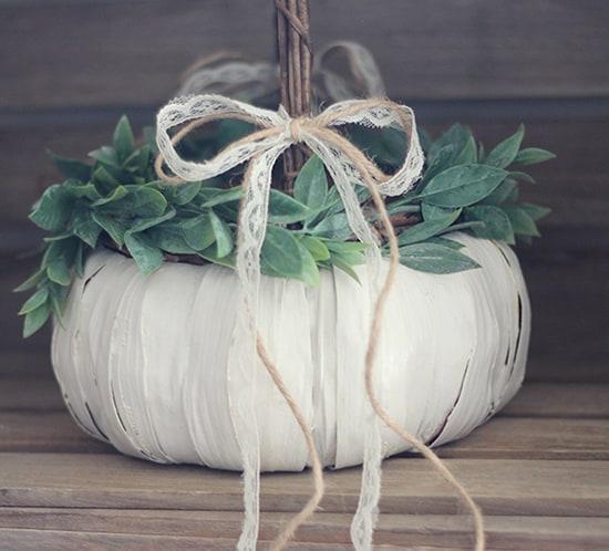 white pumpkin flower girl basket mountainmodernlife.com