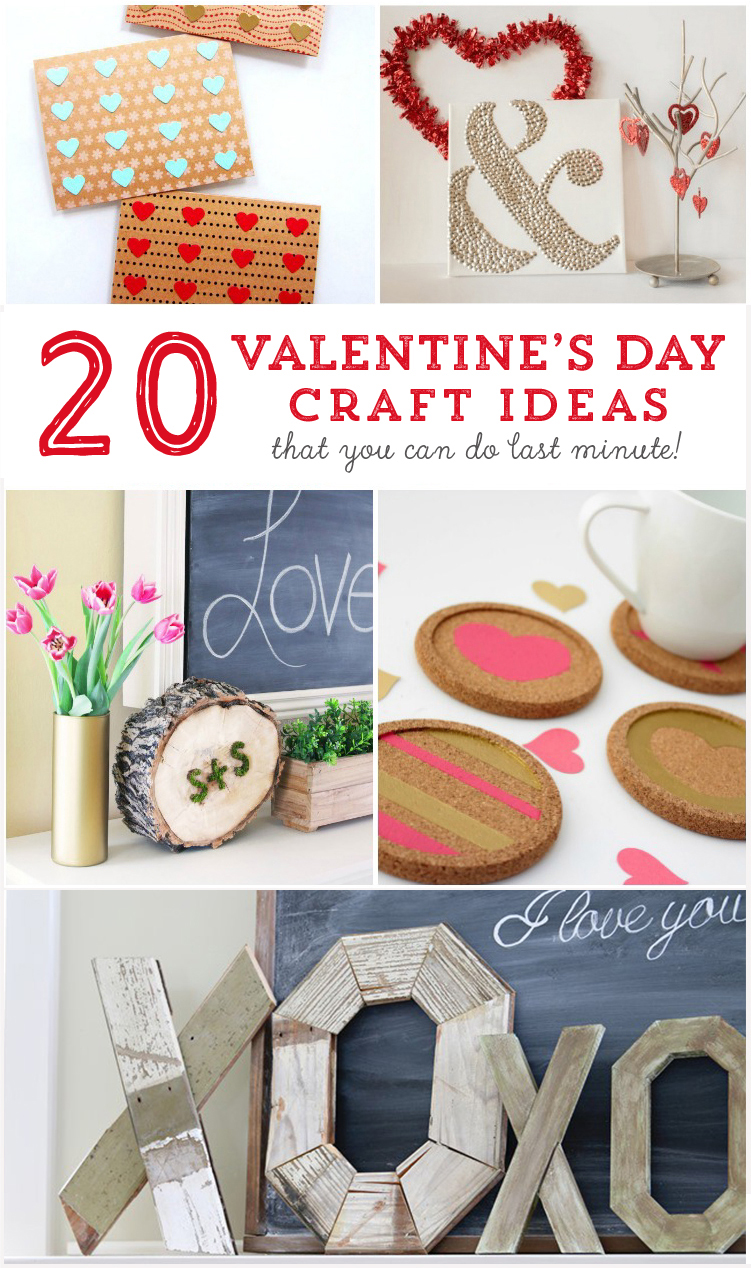 20 Valentine's Day Craft Ideas that you can do last minute! MountainModernLife.com