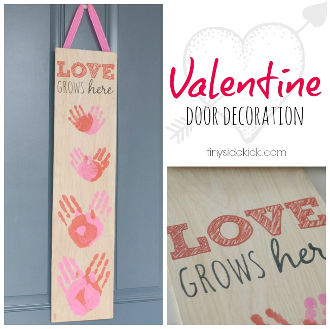 20 Valentine Craft Ideas that you can do last minute | Valentine Front Door Decor | Tiny Sidekick