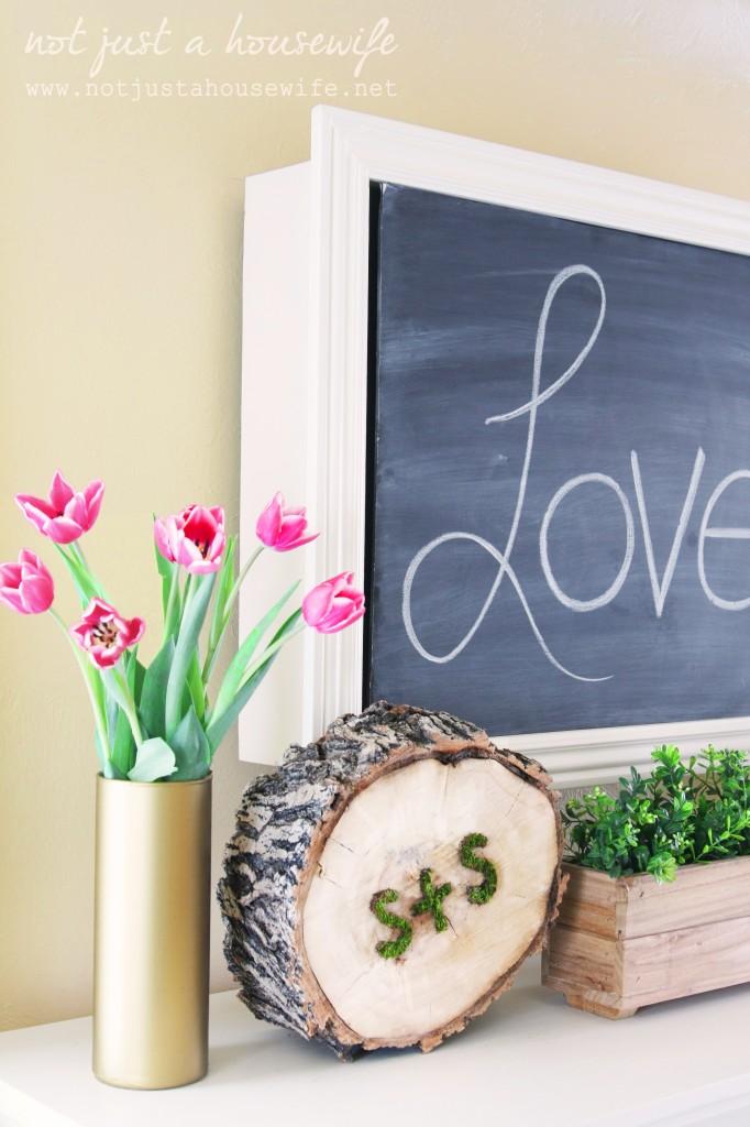 20 Last Minute Valentine Craft Ideas | DIY Moss Art | Not Just a Housewife via Homes.com