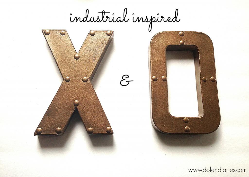 20 Last Minute Valentine Craft Ideas | Industrial X & O | Dolen Diaries