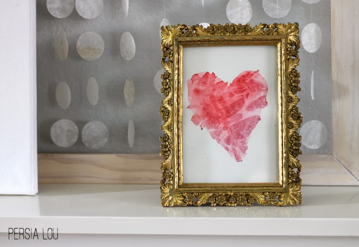 20 Valentine Craft Ideas that you can do last minute | Watercolor Heart Art via Persia Lou