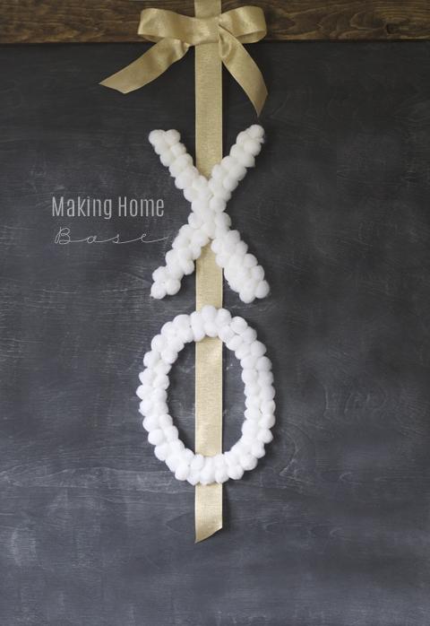 20 Last Minute Valentine Craft Ideas | DIY X O Wreath | Making Home Base