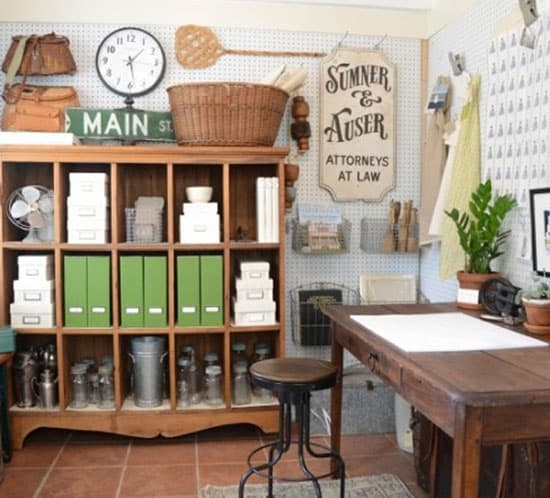 Creative Office Workspace Iron and Twine