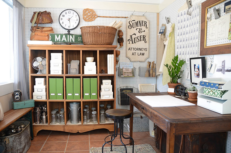 Creative workspace from Iron & Twine Studio