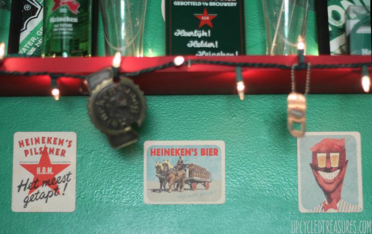 The Heineken Man Cave - Inspired by the Heineken Closet Commercial - UpcycledTreasures.com