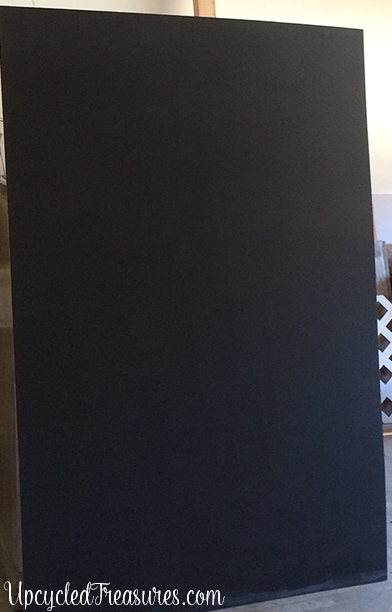 See how easy it is to make a giant chalkboard using DIY chalkboard paint which can be used in a home office, playroom, or kitchen! MountainModernLife.com