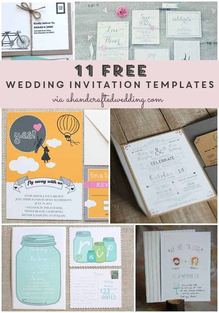 Take a look at these 11 FREE wedding invitation templates for brides on a budget or short on time!