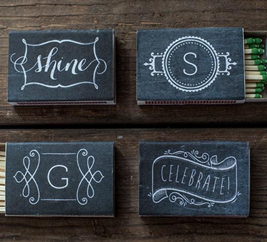Chalkboard Printable Matchbox Labels