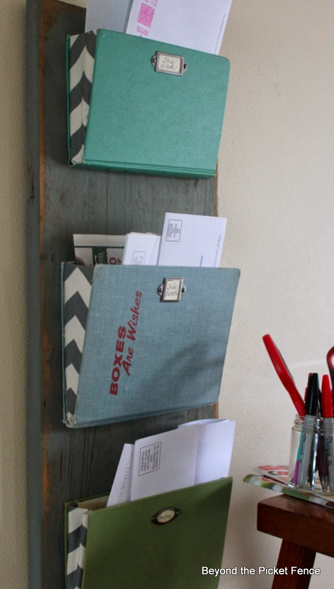 DIY-mail-organizer-using-old-books-upcycled-weekend-ideas-atthepicketfence