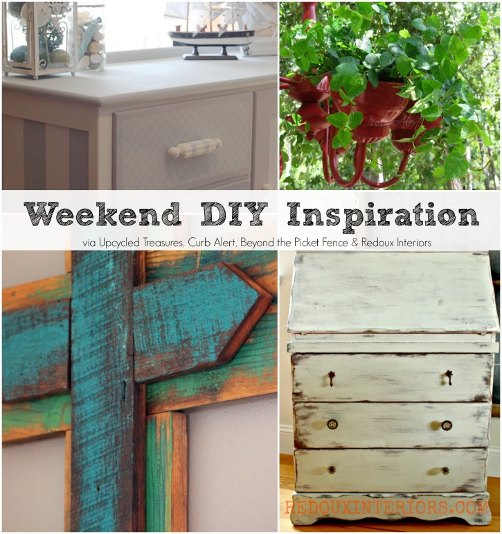 Weekend DIY Inspiration. Get four fabulous DIY projects from my Upcycling friends, and plenty of inspiration for the weekend! MountainModernLife.com
