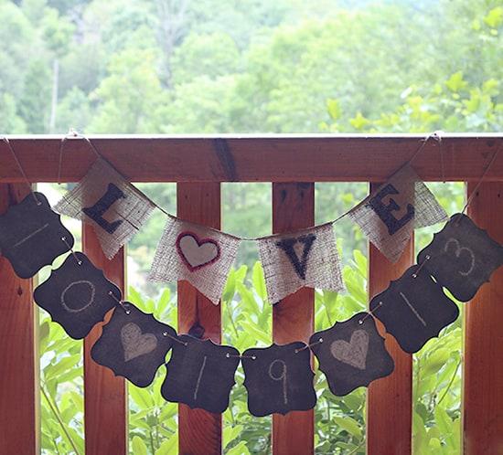 diy chalkboard chipboard journal turned wedding banner mountainmodernlife.com
