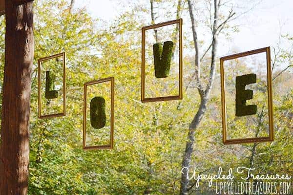How to Create Floating Moss Letters for your Wedding Reception! Add a whimsical touch to your big day with this DIY wedding project! MountainModernLife.com
