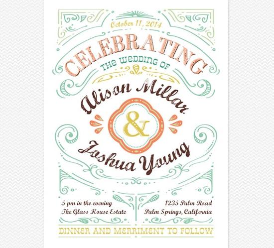 invitation cheerful celebrations big