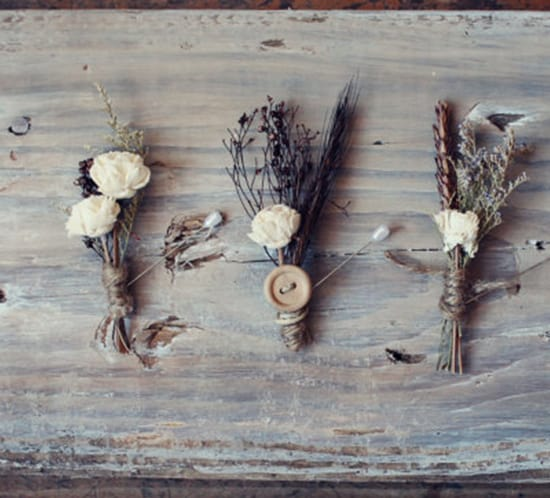 rustic boutonniere ideas mountainmodernlife.com