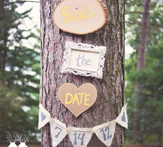 save the date tree banner