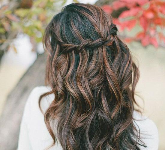 waterfall braid bridal hairstyles