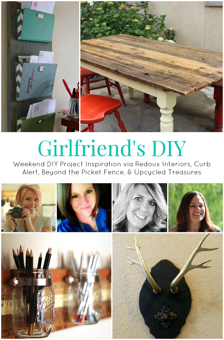 Weekend DIY Inspiration {Girlfriend's DIY} - Be inspired to get your DIY on this weekend with these fun upcycled projects! | MountainModernLife.com
