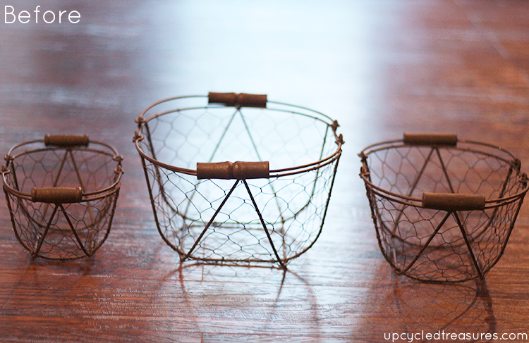 wire-baskets-before-being-painted-turquoise-for-industrial-chic-pipe-rail-storage-upcycledtreasures