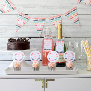 Mother's Day Party Printables via One Charming Party