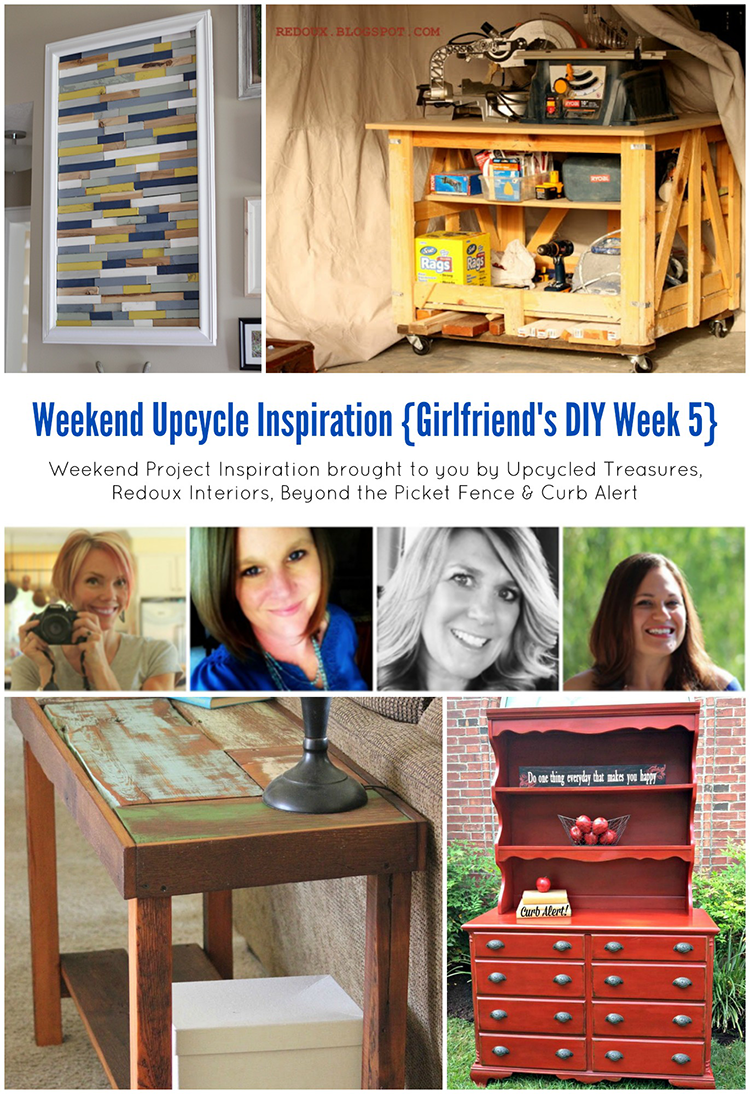 Weekend Upcycled Inspiration. Check out these awesome upcycle ideas and be inspired to get your DIY on this weekend | MountainModernLife.com