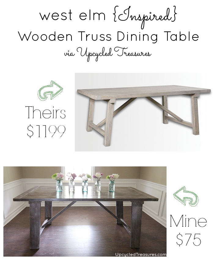 Do you want a beautiful dining table, but the price tag is a bit high? See how you can make your own West Elm Inspired Dining Table! MountainModernLife.com