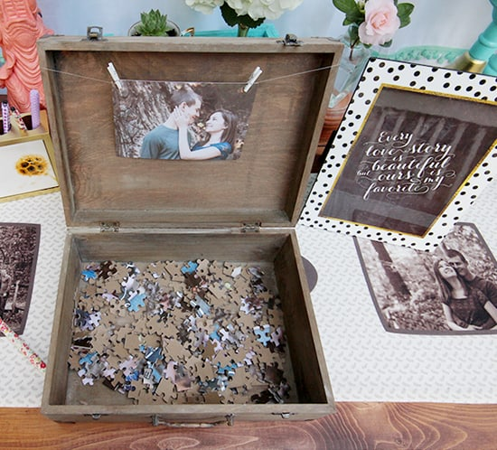 using puzzle as wedding guestbook mountainmodernlife.com