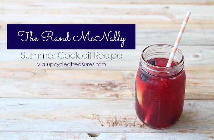 Summer-Cocktail-Recipe-Pomegranite-Juice-Lemonade-The-Rand-McNally-Upcycledtreasures