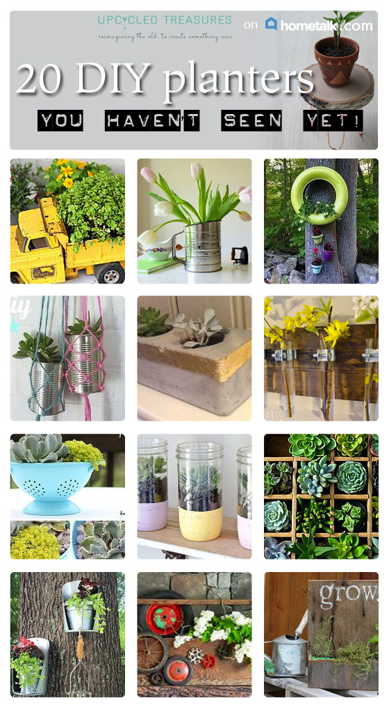 Looking for a more out of the box way to pot your plants? You have to check out these 20 Creative DIY Planter Ideas   MountainModernLife.com