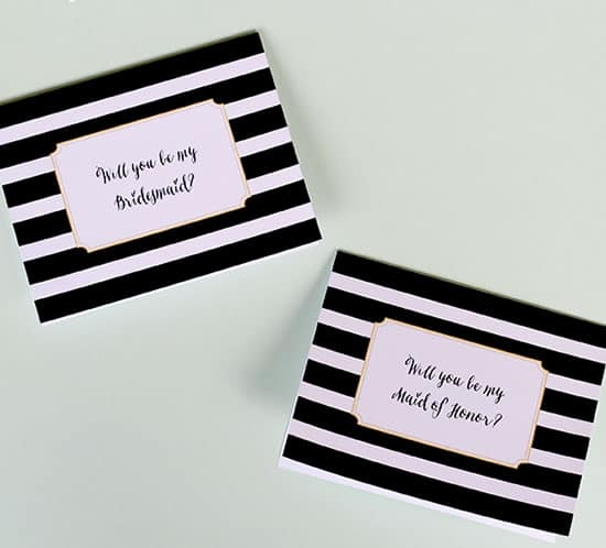 FREE Printable Will You Be My Matron of Honor Maid of Honor or Bridesmaid Card mountainmodernlife.com