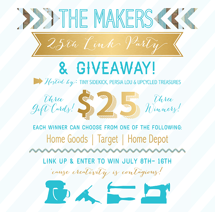 The-Makers-25th-Link-Party-and-Giveaway-Banner-upcycledtreasures