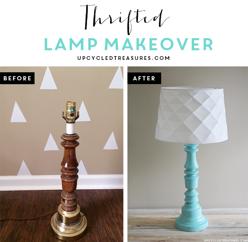 Check out this lamp makeover and see how easy it is to update an old, thrown out lamp into something modern and beautiful! MountainModernLife.com