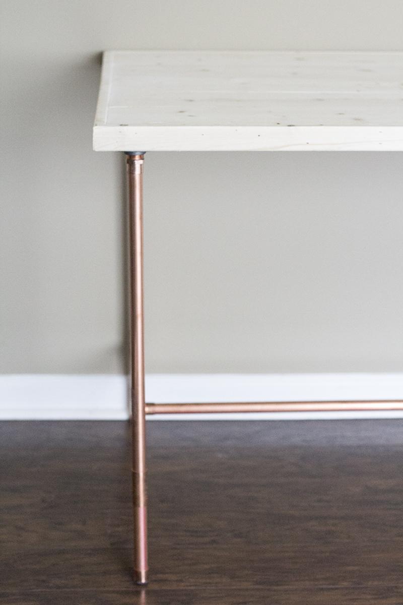 DIY Copper Pipe Desk