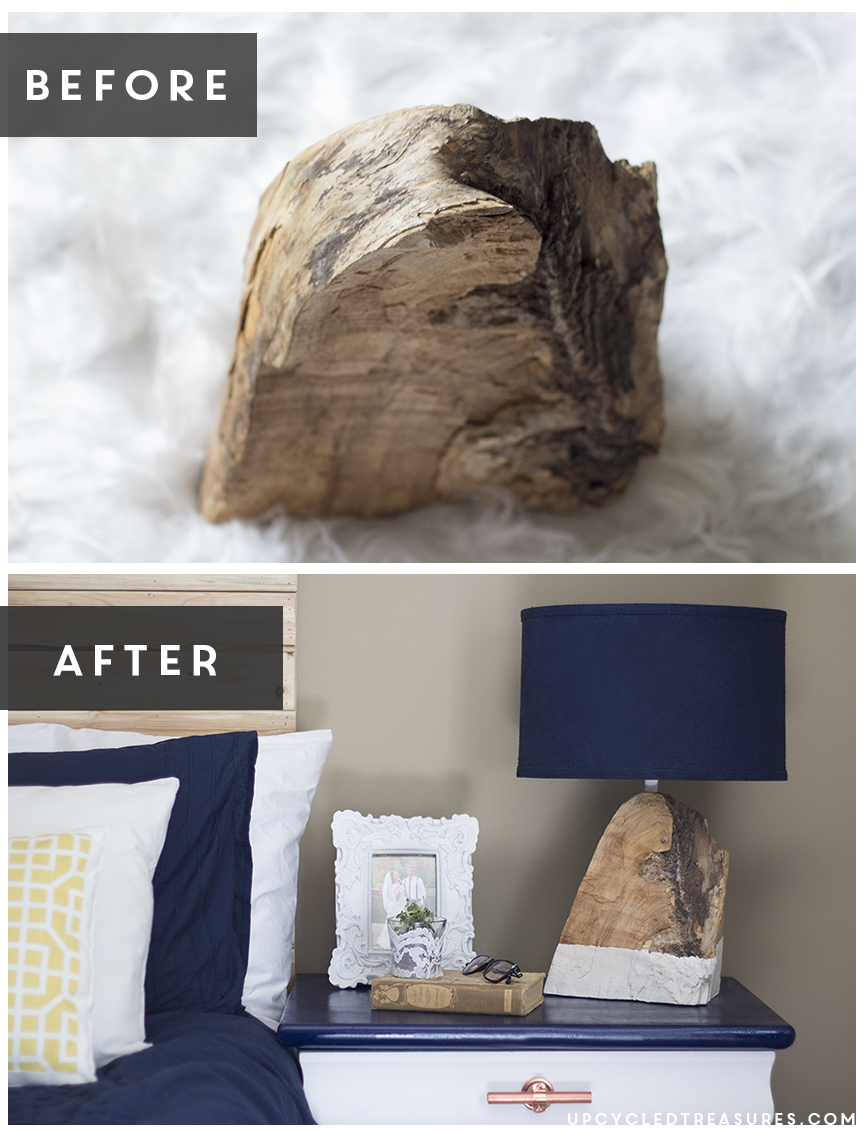 Have a chunk of wood lying around? Check out how you can transform that salvaged piece of wood into a DIY Modern Rustic Wood Lamp! MountainModernLife.com