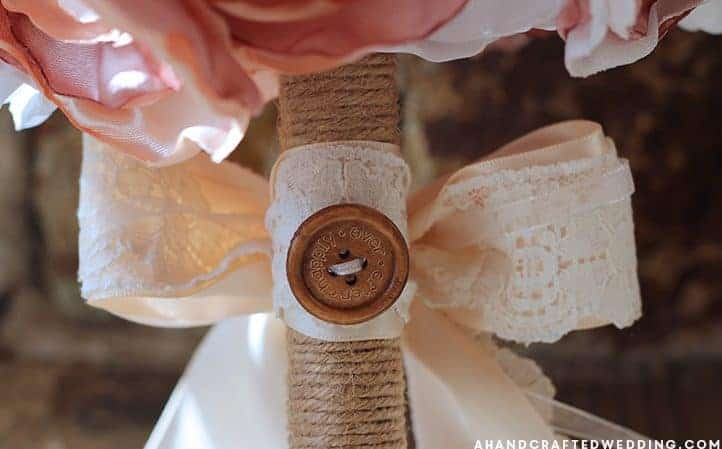 Learn how to make a fabric flower bouquet that you can cherish even after the big day, using fabric and brooches! MountainModernLife.com